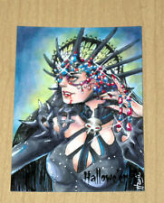 2018 Perna Halloween 3 Hallowe'en sketch card 1/1 Hanie Mohd EVIL SEXY WITCH