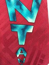 "EUC Claude Montana Paris 100% Silk necktie MONTANA Logo on Red 57x4"""