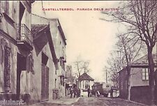 Postcard Catalonia-Castelltersol-stop the car-mbc