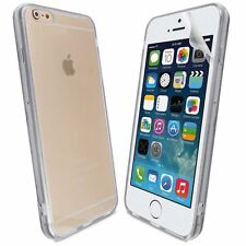 Blanco Acrílico Gel para iPhone 6G 5.5 0.5MM Ultra Delgado Estuche Plus Cubierta + Película Para Pantalla