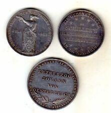 5 Gedenkthaler/Doppeltaler/Gulden Frankfurt,Preussen,Bayern 1848-1861 Silb