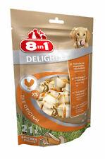 8 In 1 Dog Chews Delights 21 Pack XS Bones Rawhide Health Dental Chicken Fussy