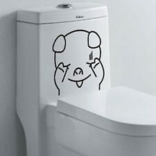 CUTE PIG ANIMALS REMOVABLE WALL STICKERS KIDS FUNNY BATHROOM TOILET SEAT DECOR