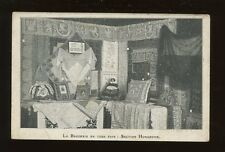France LACE EMBROIDERY Art Paysan Hongroise Invitation advert c1900s? PPC