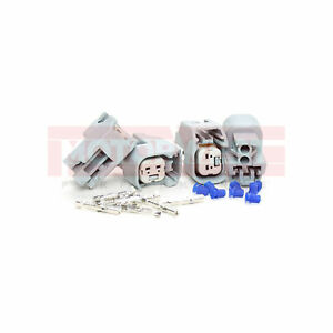 EV6 Female Fuel Injector Connectors With Crimp-on Pins Set of 4