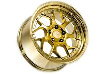 18x10.5 Aodhan DS01 5x114.3 +22 Gold Vacuum Rims Stance Fits Tc TL Rx8 Mazda 3