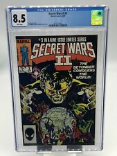 Secret Wars II #3 CGC 8.5 White Pages 1st Appearance Beyonder Marvel