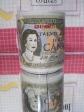 Canada Money Coffee Mug 20 Dollar Bill Queen Elizabeth II Canadian 1973