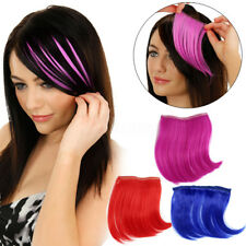 Women Bang Neon Colorful Party Fringe Hair Clip In Hair Synthetic Extensions