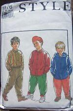 Style sewing pattern no.1976  Boys pants, sweater & shirt  size 4-10