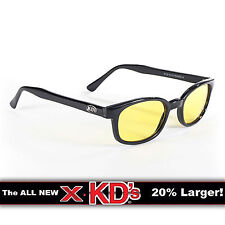 X-KD's Black Frame Yellow Lens Sunglasses XKD Motorcycle Riding Glasses
