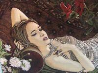 A WONDERFUL PERSIAN PICTORIAL CARPET (120 x 70 cm)