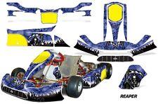 Go Kart Graphics Kit Decal Sticker Wrap For Tony Kart Venox REAPER BLUE