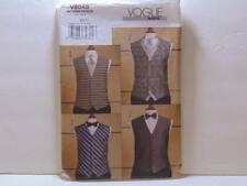 VOGUE V8048 MEN's FORMAL TUXEDO VEST TIE & BOW TIE SEWING PATTERN SIZE 38-44