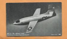 FIRST FLIGHT BELL X-1 FIRST SUPERSONIC AIRCRAFT BELL ATLANTIC CORP POSTCARD
