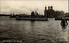 Amsterdam Niederlande Nederland Holland Postkarte ~1930 Schiff Hafen Schip Port