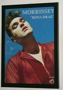 MORRISSEY Framed A4 1990 `bona drag` ALBUM original band promo RARE art poster