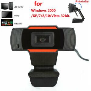 Rotatable USB 2.0 HD Webcam Camera Web Cam For Computer PC Laptop AU