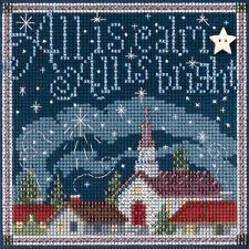 Cross Stitch Kit Mill Hill Buttons & Beads All Is Calm Christmas Town #MH14-5305