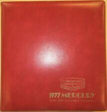 1977 Mercury Color and Upholstery Selections Cougar Marquis Capri Bobcat Capri
