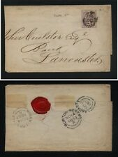 Great Britain #27 on folded envelope Ms1001