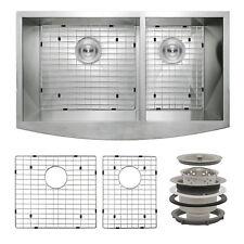 "33"" x 20"" x 9"" Apron Farmhouse Handmade Bowls Stainless Steel Kitchen Sink Set"