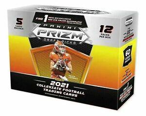 2021 PANINI PRIZM DRAFT PICKS NFL FOOTBALL MEGA BOX - RED ICE