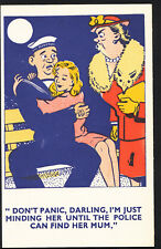 Comic Postcard - Sailor Hopeful / Girlfriend / Mother In Law / Police  DP467