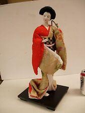 """Kyugetsu Doll Japan Japanese Geisha 18"""" Glass eyes. Porcelain face. #1333"""