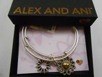 Alex and Ani You Are My Heart, Two Tone, Set of 2 Bangle Bracelet NWTBC