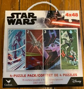 Disney Star Wars 4 Pack Puzzles 48 Pieces Each Brand New Cardinal