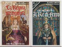 (Maurice Druon) Il Re di ferro + La regina strangolata  1985 Sperling & Kupfer
