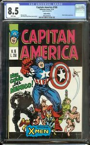 Captain America #100 CGC 8.5 First Issue Black Panther Marvel 1973 Italian Ed