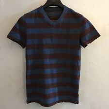 👕American Eagle 🦅 Men's Shirts tee T XS X Small ✨Purple Blue Striped Pre owned