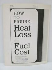 Vtg 1965 University of Wisconsin How To Figure Heat Loss Fuel Cost Agriculture