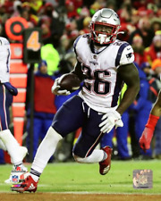 SONY MICHEL Touchdown 2018 AFC Championship Game 8X10 Photo NEW ENGLAND PATRIOTS