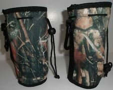 2Qty Insulated Camouflage Koozie Belt Loop Clip Hiking 16-20oz New Free Ship
