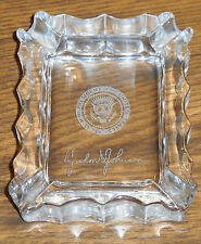 President Johnson Presidential Gift Crystal Ashtray