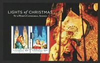 AUSTRALIA 2017 LIGHTS OF CHRISTMAS SOUVENIR SHEET OF 2 STAMPS IN FINE USED