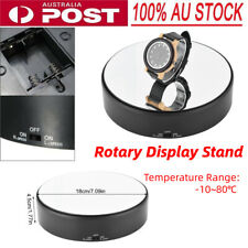 360° 3d Spinning Rotating Display Stand Turntable Mirror Surface 18cm Black AU