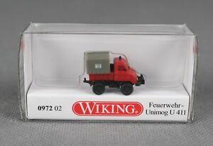 WIKING 097202/0972 02 (Spur N,1:160) Feuerwehr - Unimog U 411 - NEUWARE!