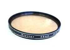 58mm VIVITAR 81C Filter - Mild Warming CC - NEW
