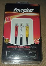 Energizer 1.5m 24K Gold Plated Composite Audio/ Video Cable LCAEC3RCA15
