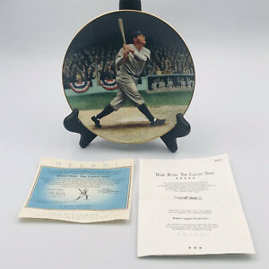 Babe Ruth The Called Shot Collectors Plate The Bradford Exchange Delphi with COA