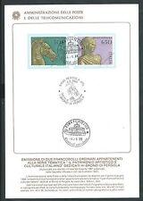 1988 ITALIA BOLLETTINO ILLUSTRATIVO N. 11 I BRONZI DI PERGOLA