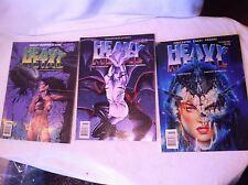 1996 Heavy Metal Comic Book set of 3 Special eddition Tattoo Art gothic design