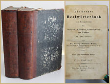 Winer Biblisches Realwörterbuch zum Handgebrauch 2 Bde 1833 Schule Wissen xy
