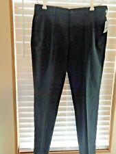 Brooks Brothers Black Men's Flat Front Straight Fit Wrinkle Free SlacksNWT 36/30