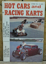 1962 HOT CARS and RACING KARTS vTg Go Cart RODS 1932 FORD 406 V8 How To Old Mag