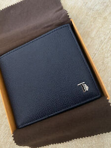 Auth Tod's Wallet Textured Leather Double Bill w/ Coin Purse